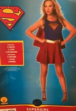 Supergirl Superhero Costume Dress Cape Rubies Womens' Adult Size Small 4-6 NEW!
