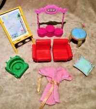 Lot of 8 Mattel Dollhouse Replacement Furniture Easel Miscellaneous Pieces