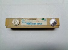 "Vintage 149 Silver Round Wedding Christmas Envelope Seal 3M Embossed Foil 1"""