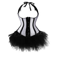 US Sexy Burlesque Corsets and Basques+Tutu/Skirt Dresses Costumes Outfit 6-24 AC
