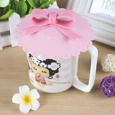 Seal Lid Cap Anti-dust Silicone Cup Cover Silicone Lovely Bowknot Coffee Cup