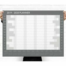 A1 Large 2019 Year Wall Planner Yearly Annual Calendar Chart Size