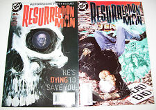 DC Comics RESURRECTION MAN 1997 #1 & 2 LENTICULAR DISK COVER First Print VF/NM