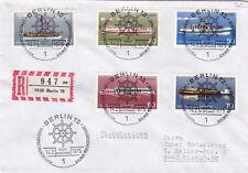 West Berlin 1975 Berlin Pleasure Craft FDC Registered Mail VGC