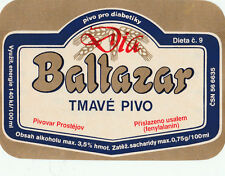 1b CZECH REPUBLIC BEER LABEL GOLD & BLUE DIA BALTAZAR PIVOVAR PROSTEJOV PRO DI