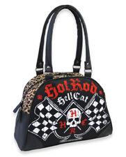 Hotrod Hellcat Spade Flags Bowler Bag Rockabilly Handbag Liquorbrand