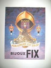 PUBLICITE DE PRESSE FIX BIJOUX FRENCH AD 1947