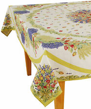 "60"" x 96"" Rectangular 100% Cotton Provence Tablecloth - Rose Lavender"