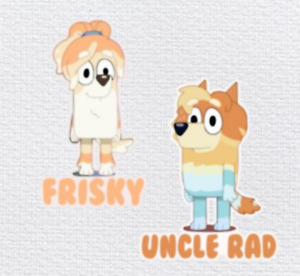 Uncle Rad and Frisky Favorite Cartoon Character Iron-on or with customized name