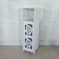 WHITE WOODEN HOLLOW BATHROOM STORAGE ORGANIZER HOLDER LAUNDRY UNIT BOX FURNITURE