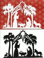 NEW LARGE NATIVITY SCENE DIE CUTS -W TOPPER CHRISTMAS SILHOUETTE- ANIMALS