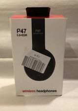 Bluetooth Wireless Headphones TF Card/FM Stereo Radio, MP3 Player P47 5.0+EDR