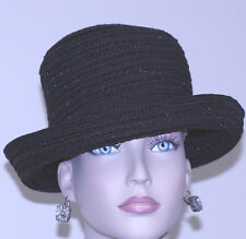 NWT womens HAT AUGUST brown polyester/nylon upbrim bucket style CLASSIC 21 3/4""
