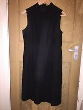 "Next Black 65% Wool Funnel Neck Dress Size 10 AtoA 18"" L40"" *S2"