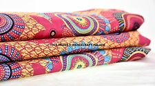 Indian Hand Block Print Dressmaking Cotton Voile Fabric Craft Sewing By the Yard