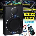 8'' 800W Car 12V Power Amplifier Speaker bluetooth Audio Music Player Subwoofer