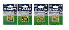Lot Of 4 Blisters Accumulator/Battery Rechargeable AAA /LR3 1000mAh VARTA