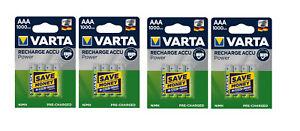 Lot de 4 Blisters de 4 accus/piles rechargeable AAA/LR3 1000mAh Varta