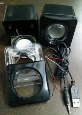 DIY Mini Audio Amplifier Housing Box Cabinet , 3W Subwoofer Speakers & cable set