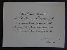 LEON GAUMONT 1864-1946 / carte de voeux circa 1920 / Cinéma Film France old card