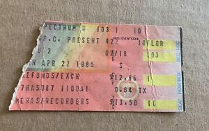 4/22/85 - U2 - Concert Ticket Stub - Philadelphia Spectrum Front Row Seat