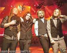 "Shinedown band Reprint Signed 8x10"" Photo #4 RP ALL 4 Members Brent Smith"