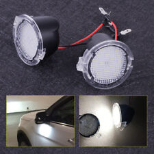 2x High Power White LED Under Side Mirror Puddle Lights for Ford F150 4.2x2.7cm