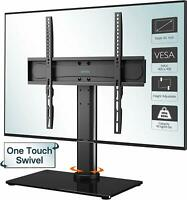"Table Top Pedestal TV Stand for 26 32 37 40 42 43 50 55"" LED LCD Screen Swivel"