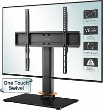 """Table Top Pedestal TV Stand for 26 32 37 40 42 43 50 55"""" LED LCD Screen Swivel"""