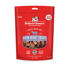 Stella & Chewy's Freeze Dried Raw Lamb Hearts Treats For Dogs Grain Gluten Free