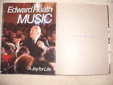 Edward Heath - SIGNED BOOK - Music : A Joy For Life (ID:571)