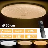 Lámpara LED De Techo Salón Habitación Cielo Estrellado Control Remoto 72W