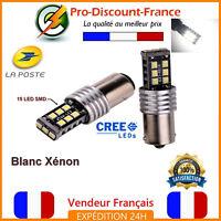 2 x ampoule 15 LED BA15S 1156 P21W BLANC XENON  VOITURE Feux Recul / Jour SMD