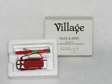 Sled And Skis Dept. 56 Village Accessories 52337 - Mib