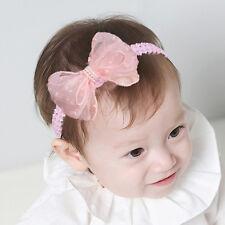 Nuevo Niño Niñas Princesa Bonito Lazo Cinta de cabeza de encaje elástico TOCADOS