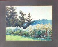 Antique Watercolor/Gouache Landscape Alfred Parsons (1847-1920)