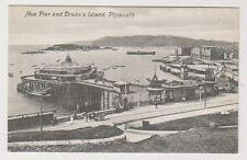 Devon postcard - Hoe Pier and Drake's Island, Plymouth