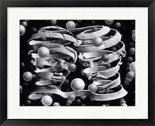 M.C. Escher Bond of Union, Framed W/Mat 28x22
