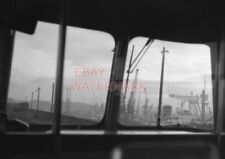 PHOTO  VIEW OF GLASGOW DOCKS FROM CAB OF EMU. 28/11/62 REAR VIEW