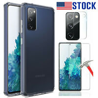 ·For Samsung Galaxy S20 FE 5G Crystal Clear Case Cover Lens & Screen Protector