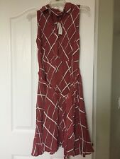 New Ann Taylor Women Dress Size 4 Sleeveless Collar Wrap