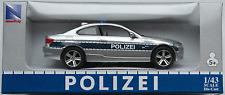 NewRay - BMW 3er Coupe silbermet./blau POLIZEI 1:43 Neu/OVP Modellauto