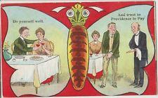 NOVELTY BUTTERFLY Design Couple Meal Trust in PROVIDENCE Colour PC Falkirk 1910
