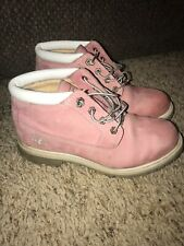 TIMBERLAND BOOTS - Womens Pink Leather Size 9