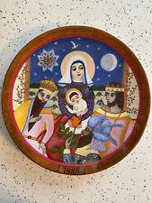 "Vintage Collectors Plate Gift of the Magi by Hedi Keller 9.5"" Konigszelt Bavaria"
