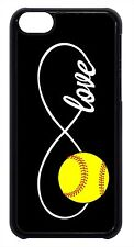 Infinity Softball Forever Love Black Case Cover for iPhone 4s 5 5s 5c 6 6+