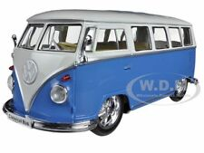 1962 VOLKSWAGEN CLASSICAL BUS LOW RIDER BLUE 1/24 BY WELLY 22095LR