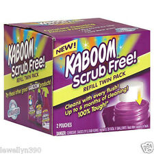 KABOOM 35261 Scrub Free Toilet Cleaner REFILL 2 Pack  Church & Dwight  NEW!