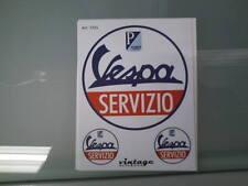 Adesivi Decalcomanie Stickers Vintage effetto d'epoca Vespa Servizio Piaggio