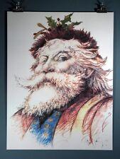 "Ramon Santiago ""Saint Nicholas"", Santa Claus, St. Nick, Art Print 1991 Poster"